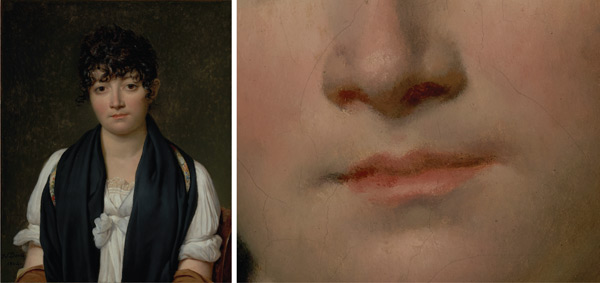 Painting the mouth: by Jacques-Louis David, plus detail; digital images courtesy of the Getty's Open Content Program | ArtistsNetwork.com