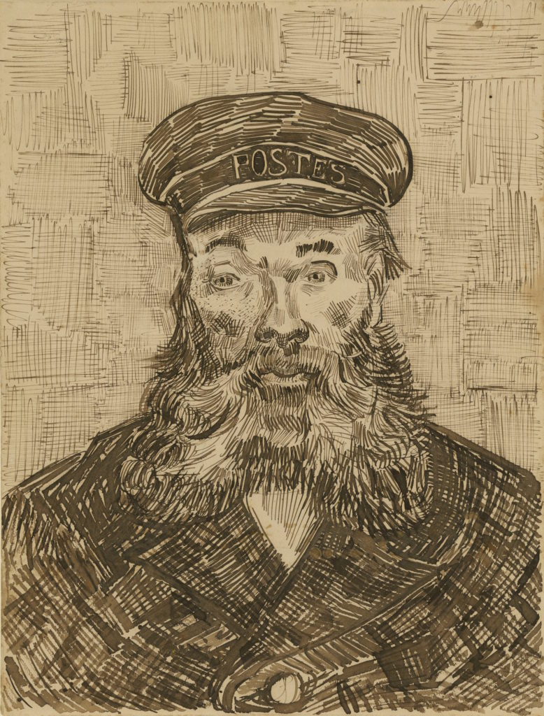 Line Drawing By Vincent Van Gogh : Van gogh and his lust for line in portrait drawings