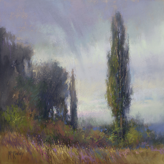 Morning Rain by Richard McKinley, pastel painting.