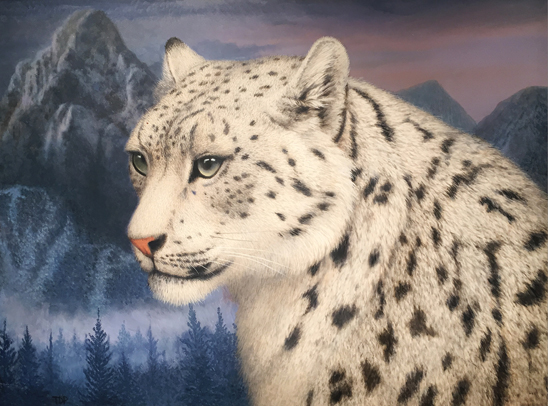 Snow Leopard by Tom Palmore | ArtistsNetwork.com