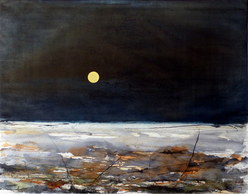 watercolor_landscape_a_rock_through_space_stig_ove_sivertsen | artistsnetwork.com