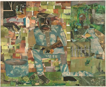 A top ten Art Museum of 2016: The DC National Gallery of Art owns Romare Bearden's Tomorrow I May Be Far Away, a collage from 1967.