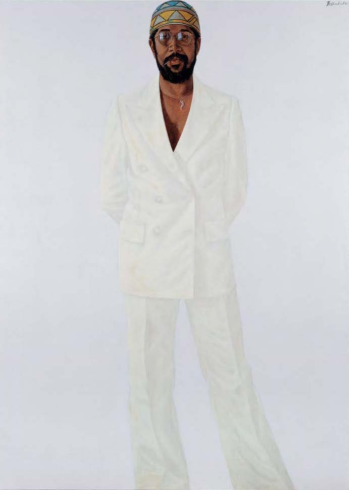 "Barkley L. Hendricks, ""Slick (Self-Portrait)"", 1977, Jack Shainman Gallery"