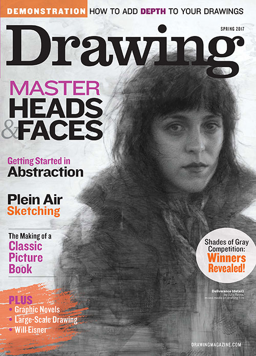 Drawing-Spring-2017-Cover, Spring 2017 issue of Drawing magazine, Tell Your Story Through Art | Artist's Network