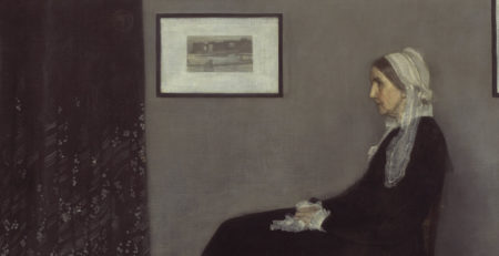 "To Title or Not to Title Art | Cropped picture of ""Whistler's Mother"" by James Abbott McNeill Whistler"