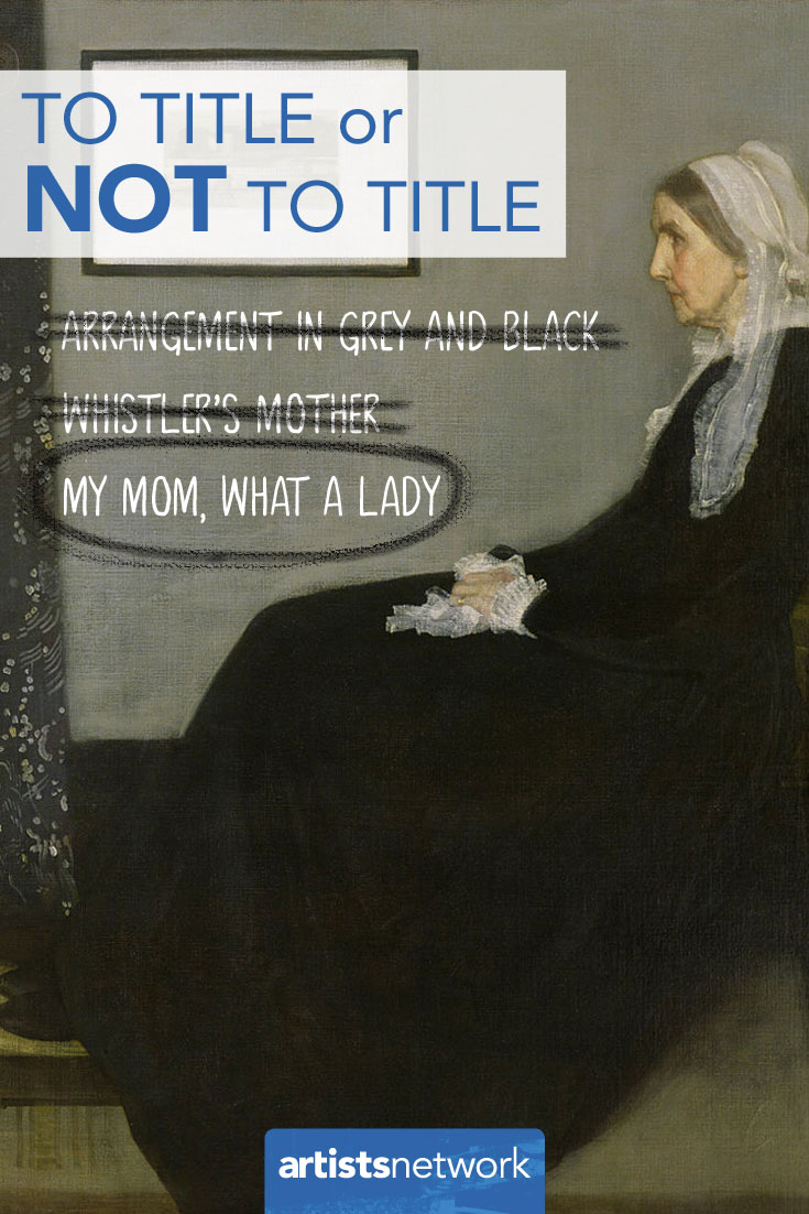 Whistler's Mother by John McNeill Whistler, oil painting.