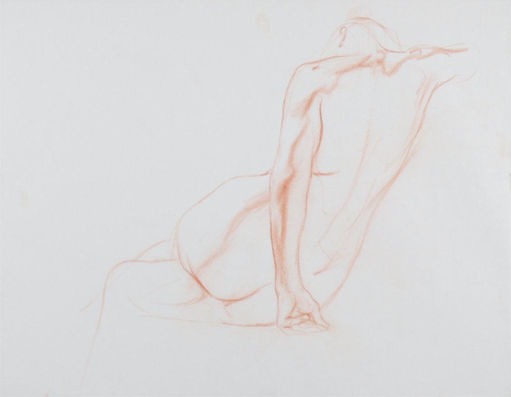 Leaning Figure by Dan Gheno | What are the Best Colored Pencils for Artists?