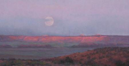 Moonrise by Denise LaRue Mahlke, detail | Create Powerful Pastel Underpaintings | Artists Network
