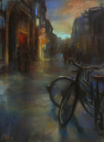 pastel_cityscape_milner_bicycles_500 | artistsnetwork.com