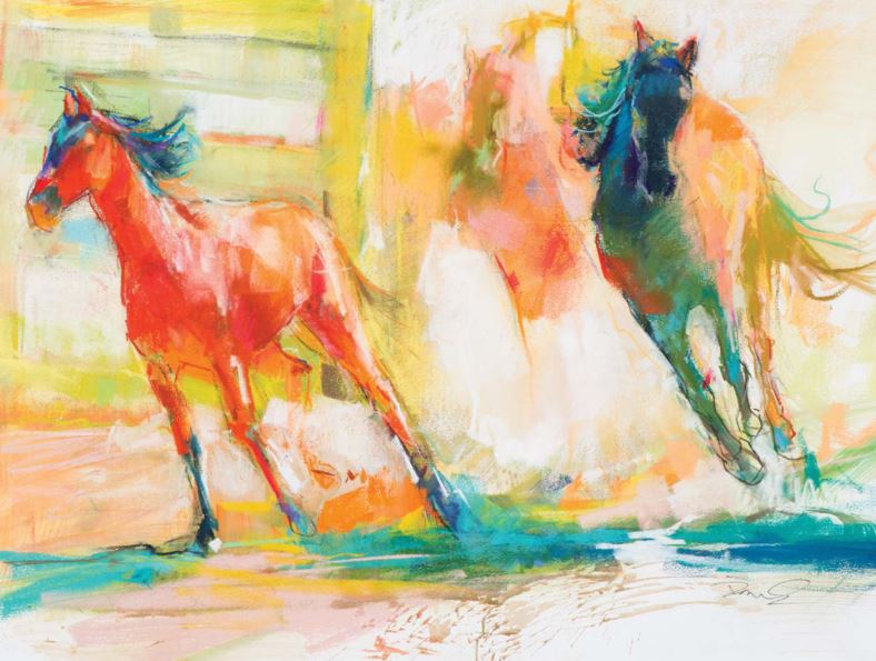 What kind of pastel artist are you? Take our pastel quiz. Freedom Run by Dawn Emerson, pastel and watercolor.