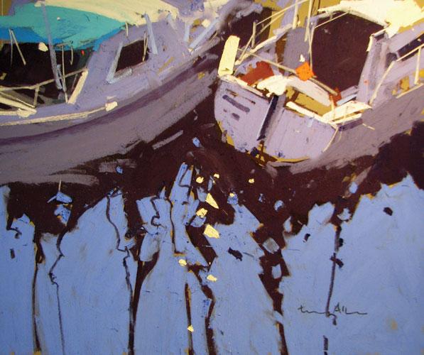 pastel_landscape_marina-reflections_tony_allain_10x14 , pastel painting tips, pastel techniques, pastel compositions, pastel paintings, painting tips, Tony Allain