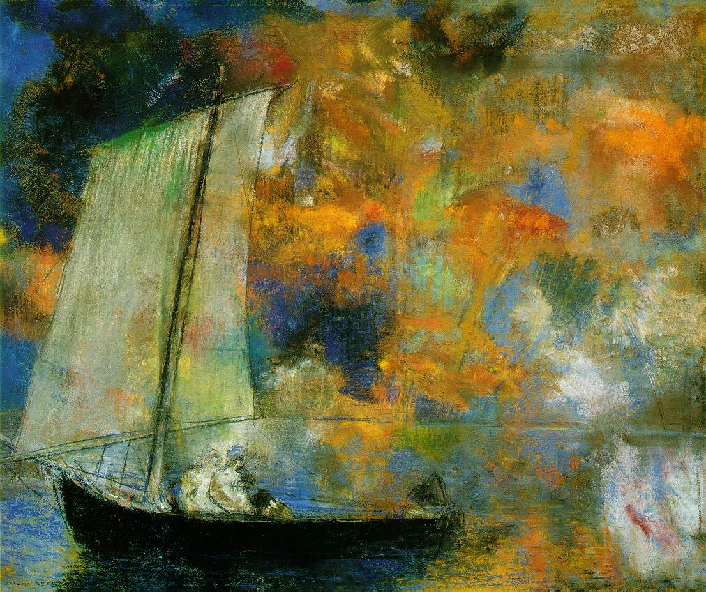 Flower Clouds by Odilon Redon, 1903, pastel.