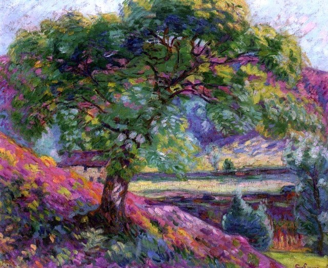 Landscape with Trees and Figures by Armand Guillaumin