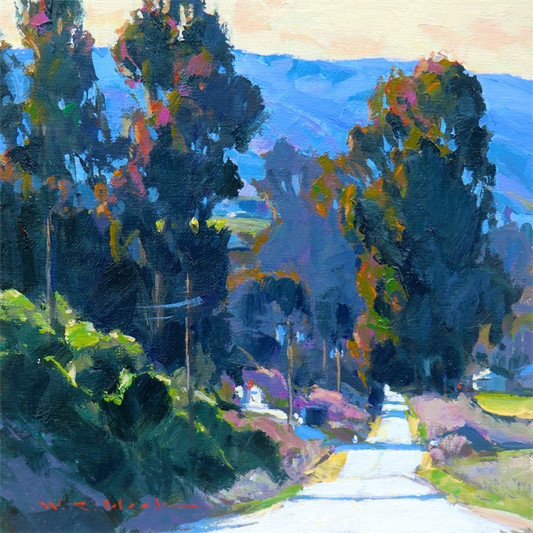 Valley Road by William Cather Hook, oil painting.