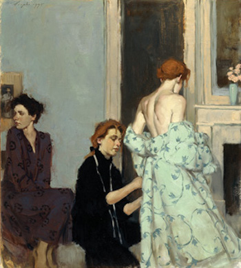 A Fitting the Gown | | Malcolm T. Liepke | The Emotional Connection in Figure Paintings | Artist Daily | Oil Painting