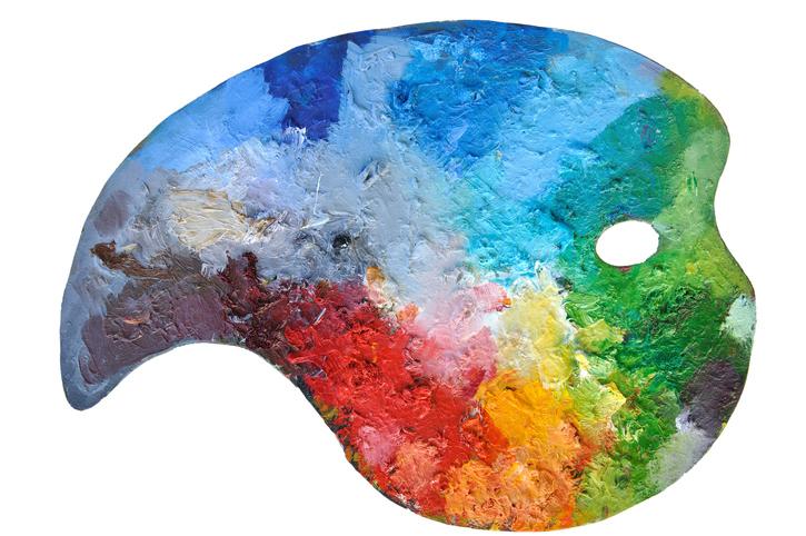beginner painting, palette, paint palette, colors, paint