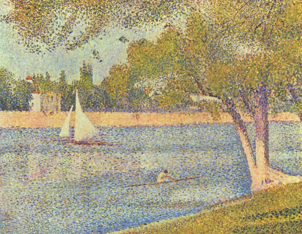 The Seine at La Grande Jatte by Georges Seurat | 5 Factors of Painting Successful Skies