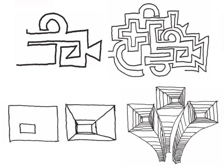 Simple drawing--geometrics by Bert Dodson