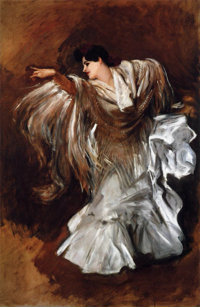La Carmencita by John Singer Sargent, oil painting, 1890 | Oil Painting Lessons From John Singer Sargent | Artists Network