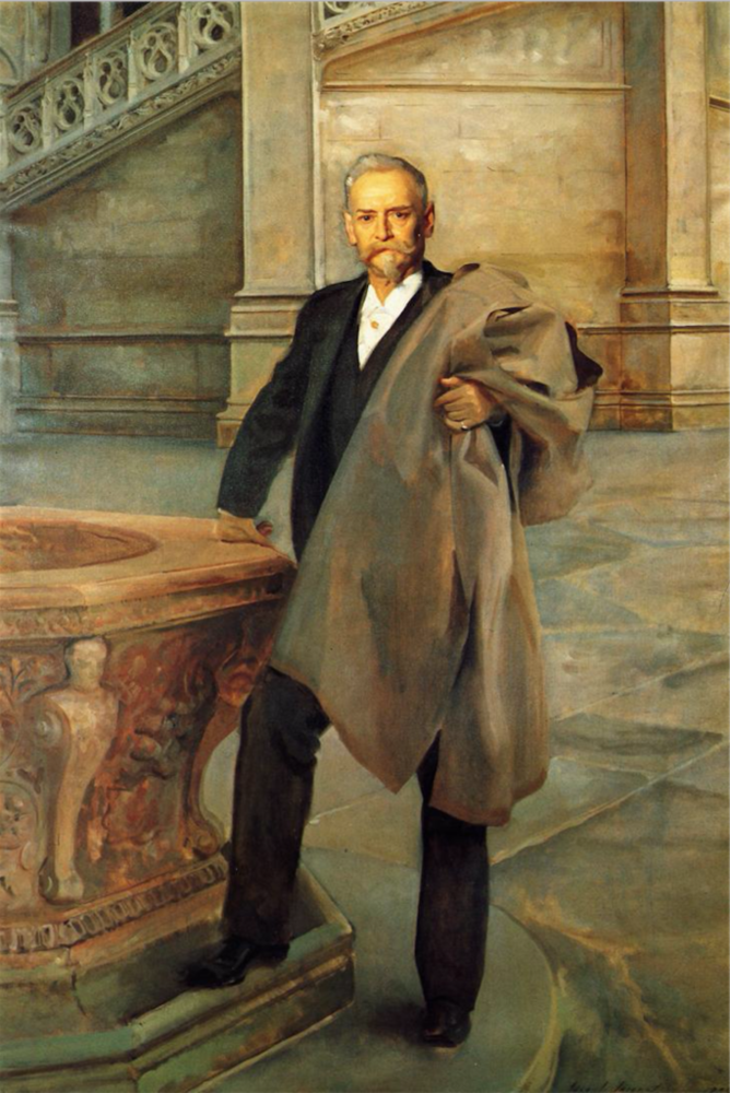 Richard Morris Hunt by John Singer Sargent, oil painting, 1895 | Oil Painting Lessons From John Singer Sargent | Artists Network