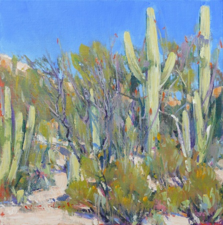 Sonoran Palette by William Cather Hook, oil painting.