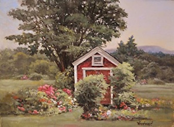 How to price your art, artist daily, garden shed, oil painting, lori woodward