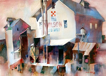 Watercolor painting by Frank Webb.