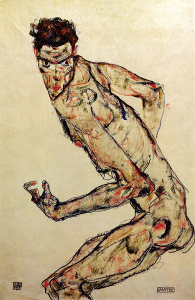 Fighter by Egon Schiele | A List of 10 Master Drawers, and What They Teach Us | Drawing magazine | Artist Daily