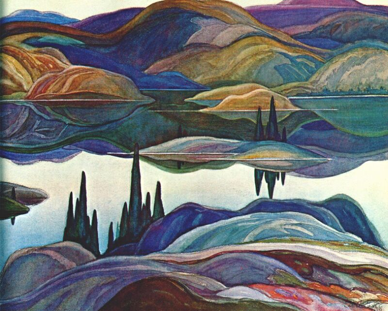 Mirror Lake by Franklin Carmichael, 1929.