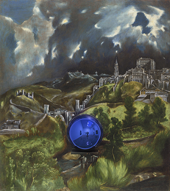 Gazing Ball (El Greco, View of Toledo) by Jeff Koons.