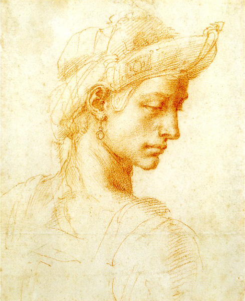 Head of a Young Man (?) by Michelangelo | A List of 10 Master Drawers, and What They Teach Us | Drawing magazine | Artist Daily