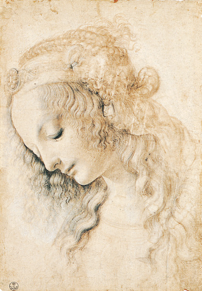 Head of a Young Woman by Leonardo da Vinci | A List of 10 Master Drawers, and What They Teach Us | Drawing magazine | Artists Network |