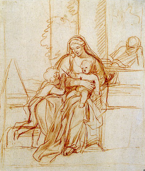 The holy family with st john the baptist by charles le brun a list