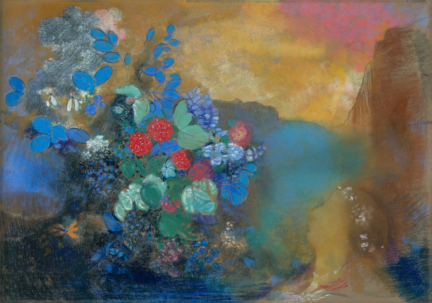 Ophelia among the Flowers by Odilon Redon | 5 Pastel Painting Tips You Need to Know to Be Successful | Artists Network