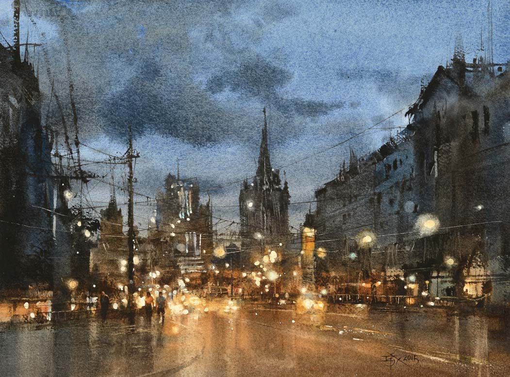 Light and Dark in Watercolor | Splash 18 | Fourth of July | Artist Daily