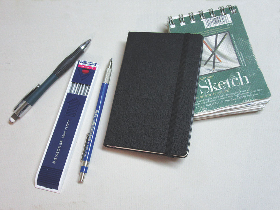 Travel Sketch Tools | How to sketch people at the airport, feature from Artists Magazine