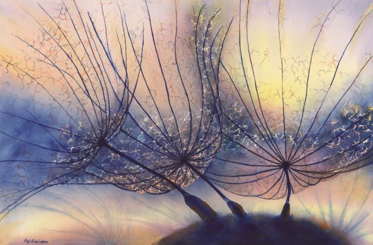 Translucent Light by Anji Grainger, watercolor painting.
