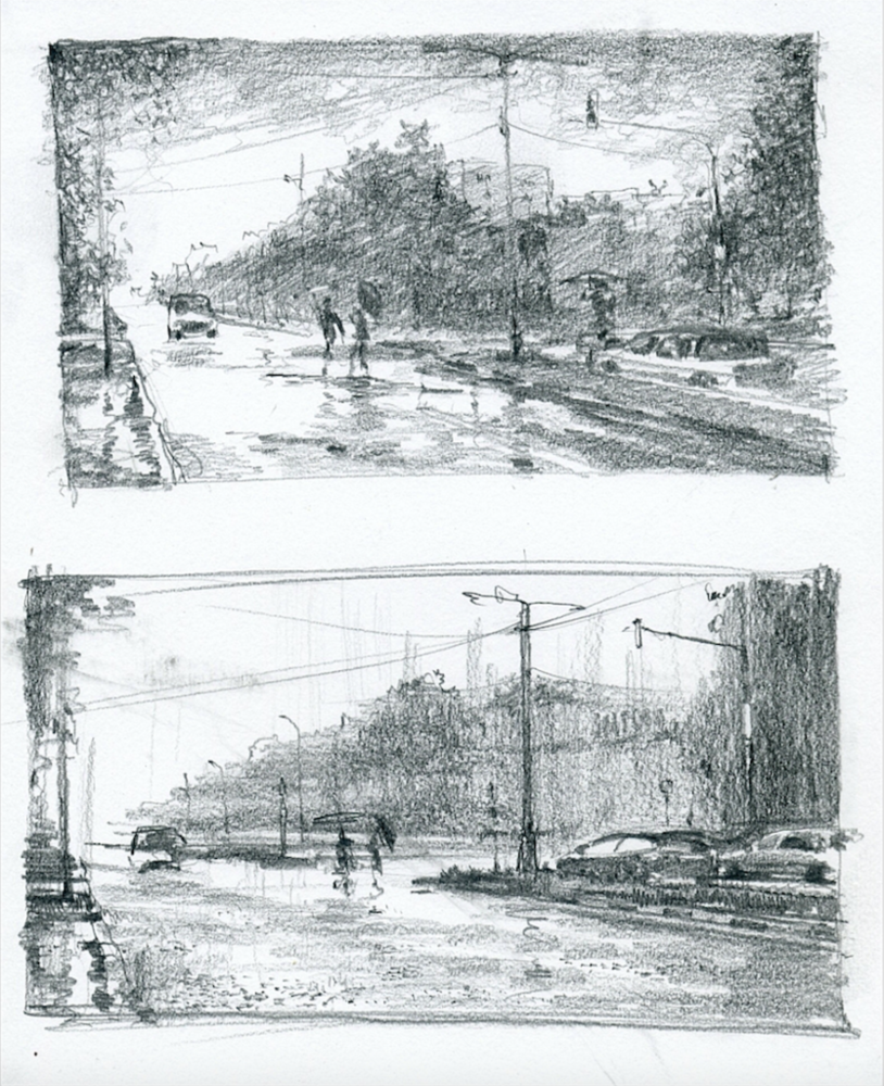 Graphite sketches for watercolor painting how to paint rain in watercolor by vladimir tuporshin