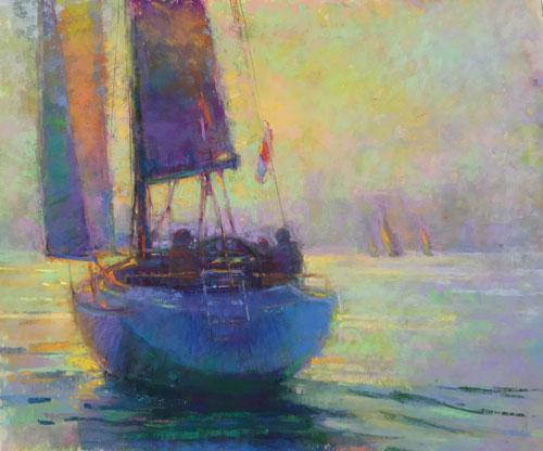 pastel_landscape_Kathleen_Newman_10x12_Glow | artistsnetwork.com