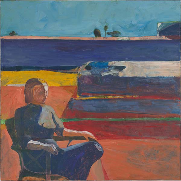 Woman on a Porch by Richard Diebenkorn, 1958.