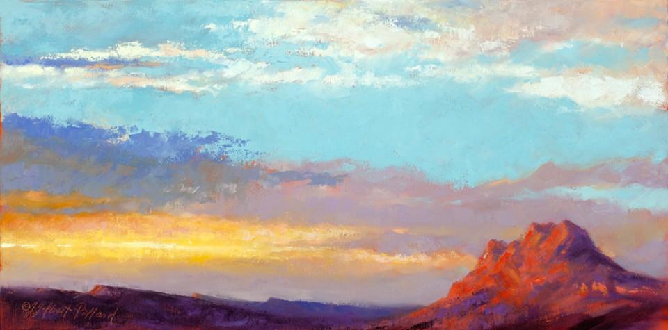 Headed North by Julie Gilbert Pollard, oil painting.