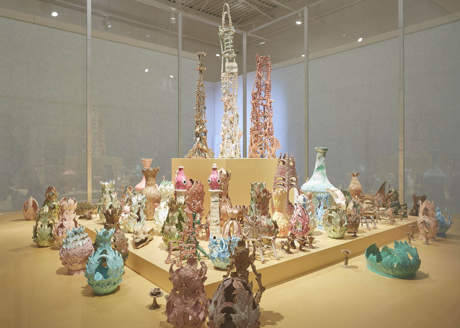Artist-built environments: Chicken-bone towers, miniature thrones and ceramic vessels from the home of artist Eugene Von Bruenchenhein. Photo by Rich Maciejewski, courtesy of John Michael Kohler Arts Center
