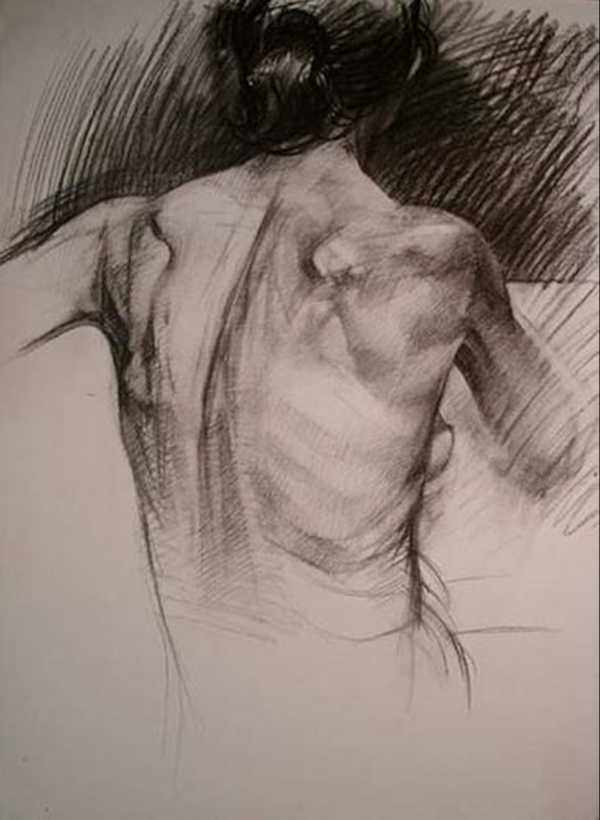 Best Paper for Charcoal Drawing | Must-Know Tips for Sketching | Female Posterior by Benjamin Shamback | Artist Daily
