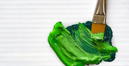 Acrylic Color Mixing Techniques: Mastering Greens by Chris Cozen | Artists Network | Photo of green paint by Getty Images