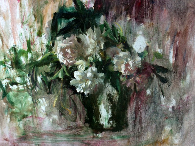 Giant Peonies by Quang Ho | Still Life Painting | Painting Flowers | Oil Painting | Artist Daily