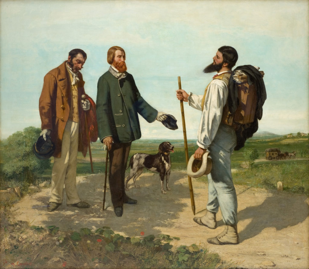 The Meeting, or 'Bonjour, Monsieur Courbet' by Gustave Courbet | The First Realist | Realism | Oil Painting | Art History | Artists Network