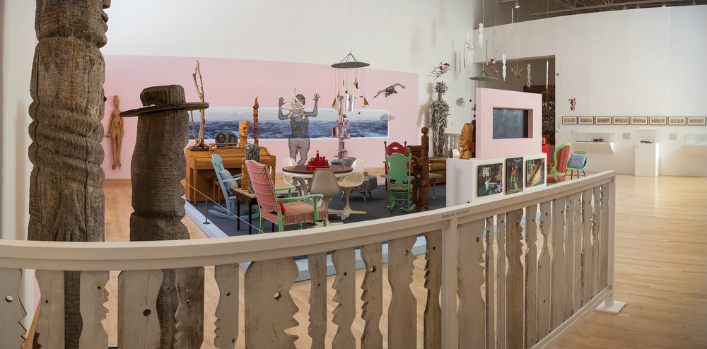 On view through Aug. 20 at the John Michael Kohler Arts Center, Greetings, Salutations and Boo features a reinstallation of Mary Nohl's living room from her lakeside artist-built environment in Fox Point, Wis. Photo: John Michael Kohler Arts Center