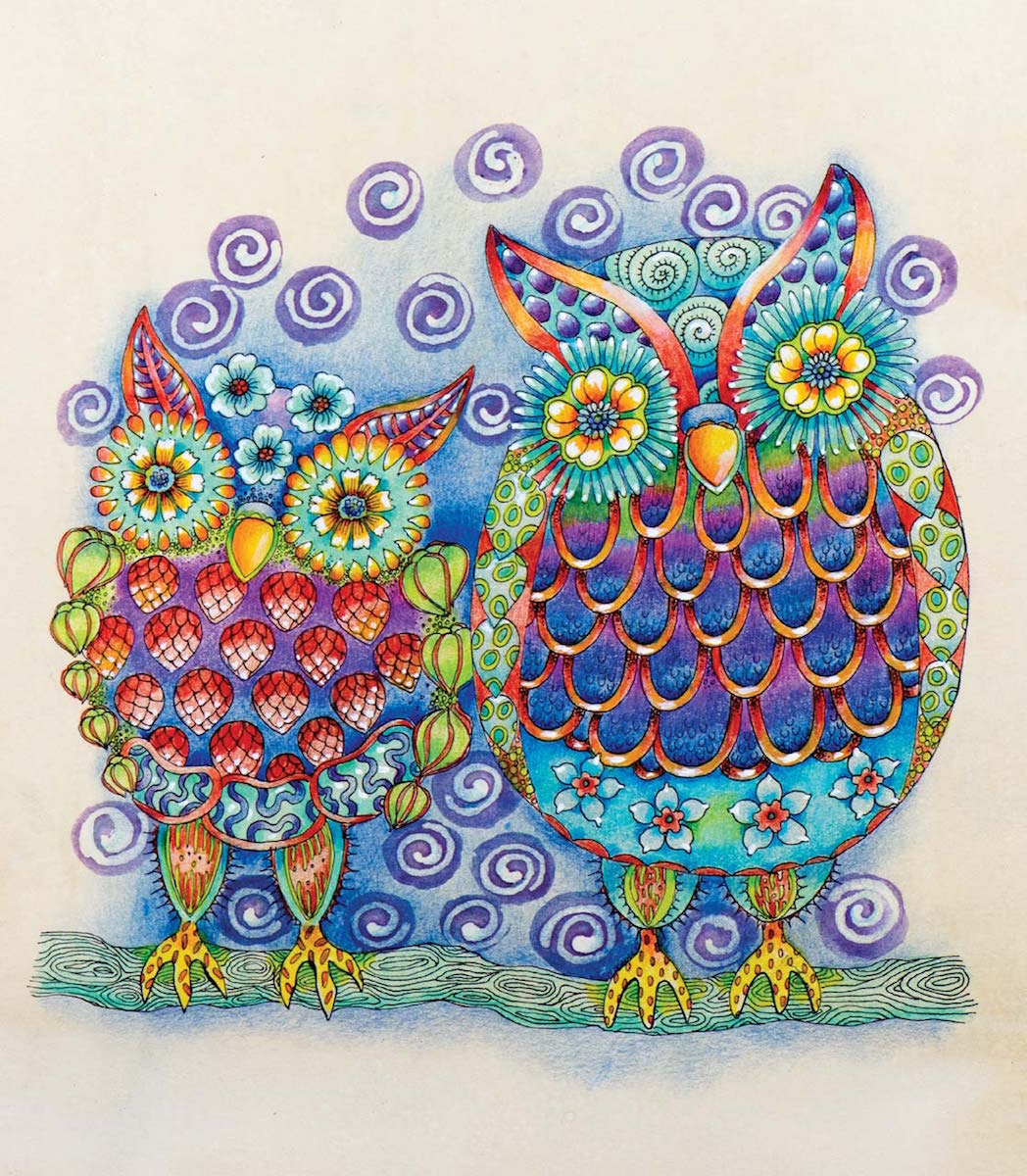 How to Enhance Your Coloring Book Pages | Doreen Kassel | National Coloring Book Day | ArtistsNetwork
