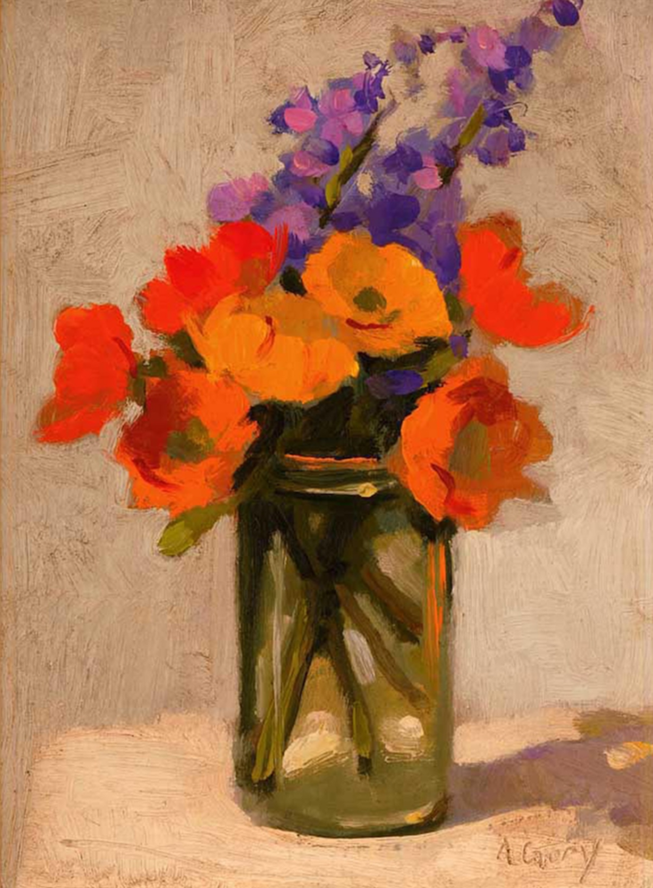 How to oil paint in one sitting by working alla prima for How to oil paint flowers