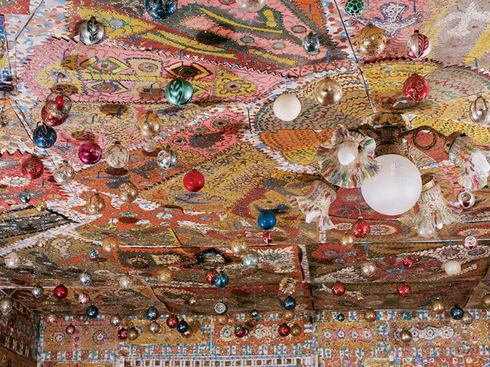 Living room ceiling view of the Beautiful Holy Jewel Home.